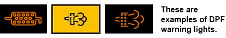 DPF warning lights